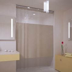 Matching Bathroom Shower And Window Curtains White Shower Curtain