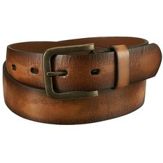 UNIQLO Italian Leather Cracked Belt (€32) ❤ liked on Polyvore featuring men's fashion, men's accessories i men's belts