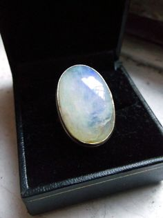 dca30a697f69 HUGE vintage moonstone ring sz 7 by ahouseofghosts on Etsy,  25.00  Moonstone Ring, Vintage