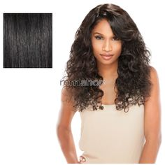 Bare & Natural Brazilian Lace Wigs Natural Curly - Color NATURAL/BLK - Unprocessed 2-Way L-Shape Part Lace Wig - 2-Way L-Shape Part