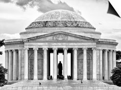The Thomas Jefferson Memorial, Washington D.C, District of Columbia, Black and White Photography Posters by Philippe Hugonnard at AllPosters.com