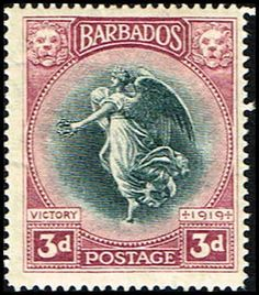 Barbados 145 Stamp Victory Stamp