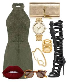 """Sans titre #161"" by victorine-b on Polyvore featuring mode, Yves Saint Laurent, Giuseppe Zanotti, Illesteva, Madewell, Michael Kors, Lime Crime, women's clothing, women et female"
