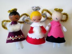 I don't like roast dinners much, so the best thing about christmas for me is the excuse to indulge in frivolous craft activities. These little angels are simple and fairly quick to make, and …