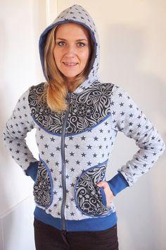 Lady Bella Hoodie Tutorial Athletic, Zip, Boho, Hoodies, Sewing, Lady, Sweaters, Handmade, Jackets