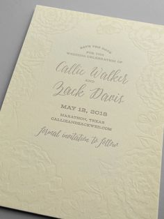 Kleinfeld Paper || Elegant Garden Save-the-Date