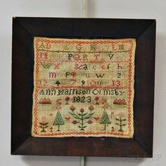 "Small Needlework Sampler ""Ann Harrison Ormsby,"""