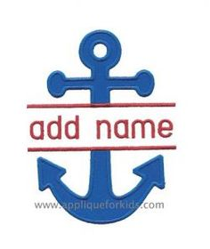 Nautical, Sea & Fish :: Split Anchor Applique Design