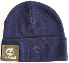 6af9f69c Timberland Mens Knit Beanie Hat Navy Blue One Size #Timberland #Beanie Mens Knit  Beanie