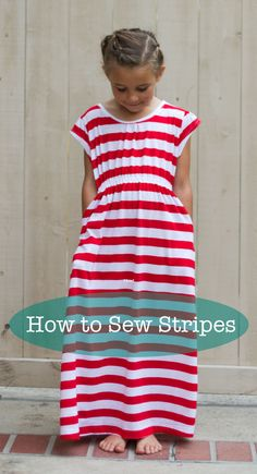 learn how to sew cut out fabric and sew stripes