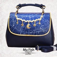 309f1ae904 Mu-fish Constellation Prints Lolita Handbag Shoulder Bag Cute Bags
