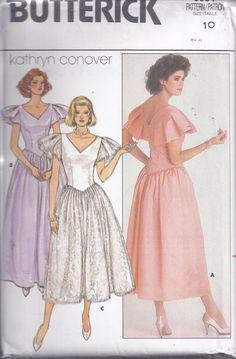 Vintage Dress Patterns, Vintage Dresses, Vintage Outfits, Vintage Clothing, 80s Fashion, Vintage Fashion, Girl Fashion, Fashion Outfits, Fashion Design