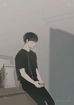 ✔ Cute Drawings Of Boys Character Design Jungkook Fanart, Bts Jungkook, Jungkook Smile, Cartoon Kunst, Cartoon Art, Cute Anime Guys, Anime Boys, Arte Indie, Japon Illustration