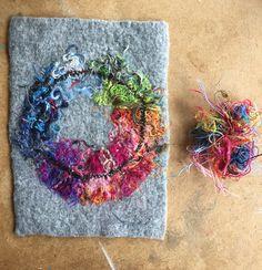 number 19 Felted Wool Crafts, Felt Crafts, Wet Felting, Needle Felting, Textiles, Felt Pictures, Felt Embroidery, Paper Lace, Wool Art