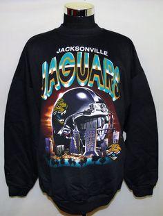 Jacksonville Jaguars NFL Vintage 90 s True Fan Brand Skyline Sweatshirt  Size 2XL  TrueFan  JacksonvilleJaguars 94d1f29dc