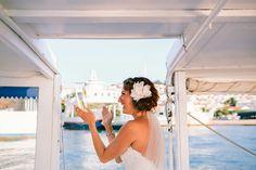 Wedding in Poros Poros Greece, Bride Hairstyles, Updo, Destination Wedding, Hair Makeup, Flowers, Hairstyles For Brides, Bridal Hairstyles, French Twist Hairstyle