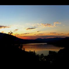 Whiskeytown Lake Park at sunset