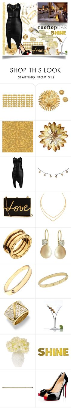 """""""Rooftop Bar Date"""" by jeneric2015 ❤ liked on Polyvore featuring Versace, Posh Girl, Lanvin, Lana, Bulgari, Cartier, Marina B, Cultural Intrigue, Christian Louboutin and summerdate"""