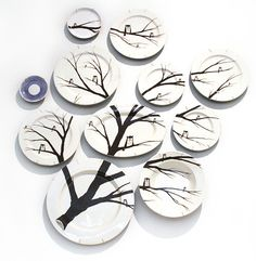 Tree and Owl Plates
