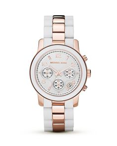 Love the white ceramic and rose gold combination.