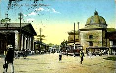 Pinoy Kollektor: Philippine TRAMVIAS (Street Cable Cars) in Postcards. Pinoy's first modern transportation Fort Santiago, Philippine Architecture, Philippine Art, Cable, Manila Philippines, Walled City, Old Postcards, Pinoy, The Good Old Days