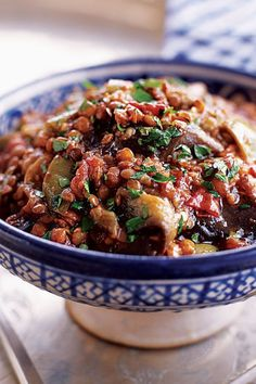 This stew recipe incorporates summer flavors in the fresh eggplant and tomatoes and fall flavors in the chiles, lentils and molasses to create the ultimate comfort food recipe. Whether you're looking to eat this eggplant recipe as an end of summer dinner recipe or as a fall recipe for a family dinner or a dinner party, it's a great way to incorporate the rest of your summer eggplant.#eggplantrecipes #stewrecipes #souprecipes #fallrecipes #summerrecipes #comfortfood Healthy Food Options, Healthy Breakfast Recipes, Healthy Eating, Healthy Recipes, Healthy Breakfasts, Best Soup Recipes, Vegetarian Recipes, Fall Recipes, Summer Recipes
