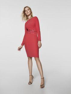 Foto vestido de fiesta rojo (62065)