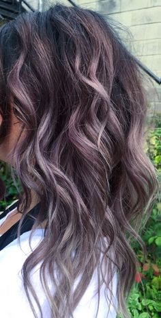 New styles Hair Dye Colors, Cool Hair Color, Winter Hairstyles, Pretty Hairstyles, Hairstyle Ideas, Hair Color Balayage, Ombre Hair, Lilac Hair, Lavender Hair
