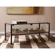 Harper Blvd Display/ Terrarium Coffee/ Cocktail Table (OS0688), Black
