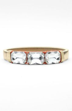 Lydell NYC Crystal & Chain Stretch Bracelet available at #Nordstrom
