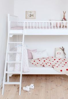 White Scandavian Bunk Bed by Oliver Furniture Kid Beds, Bunk Beds, Oliver Furniture, Neutral Bedrooms, Shared Rooms, Little Girl Rooms, Awesome Bedrooms, Kid Spaces, Kids Bedroom