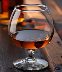 Drinks after dinner. Smooth glass, cognac glasses of simplicity let the spirt shine.