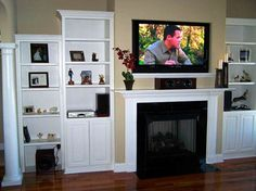 Living Room With Tv Above Fireplace Decorating Ideas image detail for -built in fireplace shelving | for the home