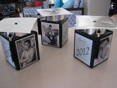 personalized grad party centerpieces--out of tissue boxes!