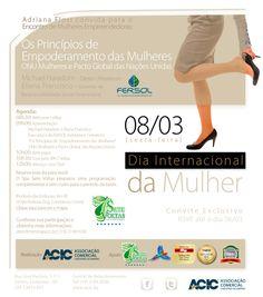 Arte e conteúdo de E-mail Marketing feito para a Associação Comercial e Industrial de Campinas para Divulgação de um Evento em Comemoração ao Dia Internacional da Mulher: O Principio de Empoderamento das Mulheres