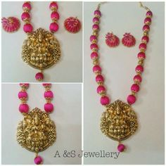 lakshmi pendant silk thread jewellery