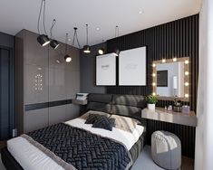 New bedroom diy cozy inspiration 26 Ideas Small Room Bedroom, Trendy Bedroom, Home Bedroom, Modern Bedroom, Bedroom Decor, White Bedrooms, Decor Room, Bedroom Ideas, Appartement Design
