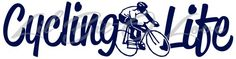Cycling Life Vinyl Decal Cyclist in the Center Sticker For Vehicle Car | LilBitOLove - Housewares on ArtFire