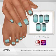 LIVIA - GLITZ AQUA NAILS / EXCLUSIVE THIRD LIFE GIFT