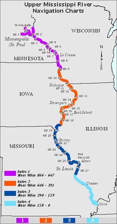 Upper Mississippi River Navigation Charts