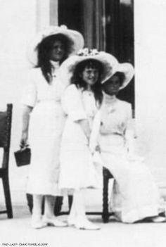 Grand Duchesses Maria, Anastasia and Olga Nikolaevna.