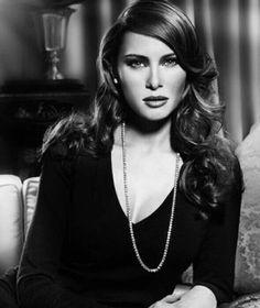Young Melania Trump-still beautiful.