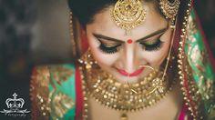 Bride ❤❤❤ #wedding #punjabibride #indianbride #indianwedding #chura #redbangles #lehenga #pinklehenga #jewelry #gold #bling #love #happy #weddingday #bigday.FOR MORE FOLLOW PINTEREST :@reetk516