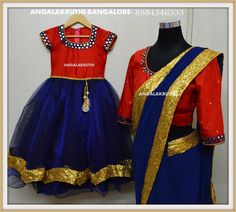 Mom and Me designs in Bangalore by Angalakruthi-Ladies boutiques and daughter matching dresses Mom Daughter Matching Dresses, Mom And Baby Dresses, Girls Dresses, Mother Daughter Pictures, Mother Daughter Fashion, Mother Daughters, Indian Dresses, Indian Outfits, Kids Lehenga