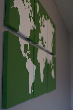 map canvas wall art