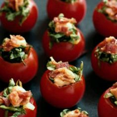 BLT stuffed cherry tomatoes