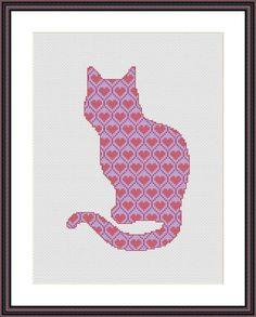 Cross Stitch Pattern Cat Silhouette 2 by CrossStitchForYou
