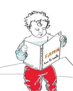 Firmin lisant un livre