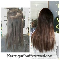 How good is this?? Such an easy way to create an Ombre without even colouring the clients own hair!! Just under 3/4's of a head of our Ultra Premium Tapein Extensions in #2 Brown. Ash and #10 #ultrapremium #tapein #hairextensions #kattygurlhairextensions www.kattygurl.co.nz