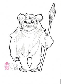 Nina Matsumoto Ewok Pinup Comic Art
